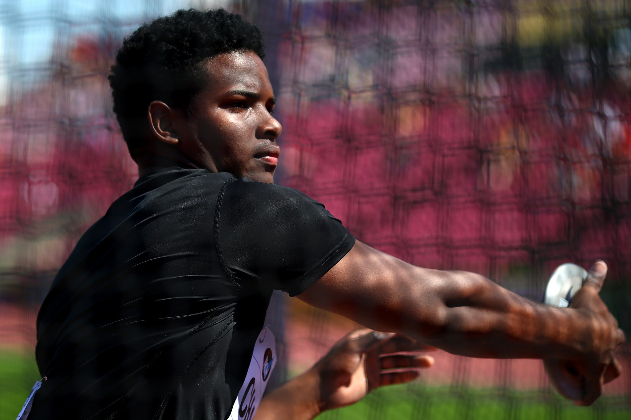 Jamaican Kai Chang showed why he is the reigning world under-20 discus champion as he threw 59.36 metres ©Getty Images