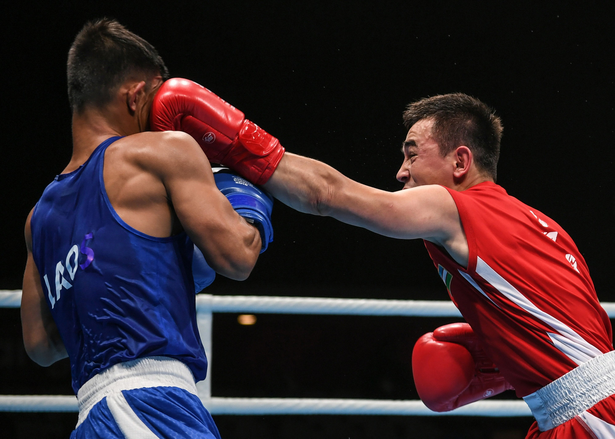 Olympic gold medallist Hasanboy Dusmatov cruised into the quarter-finals of the flyweight division at the ASBC Elite Boxing Championships in Bangkok ©Getty Images
