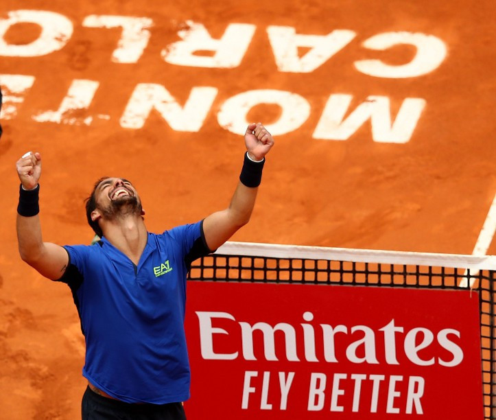 Fabio Fognini won the Monte-Carlo Masters - making him the first Italian to win a ATP Masters 1000 title ©Getty Images