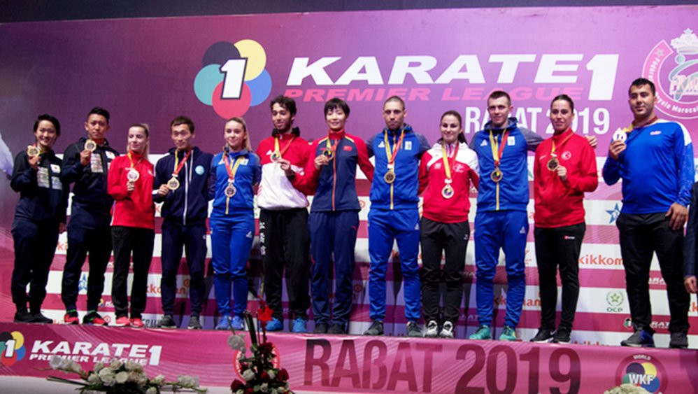 Ukraine won three gold medals on the final day of the WKF Karate1-Premier League in Rabat ©WKF
