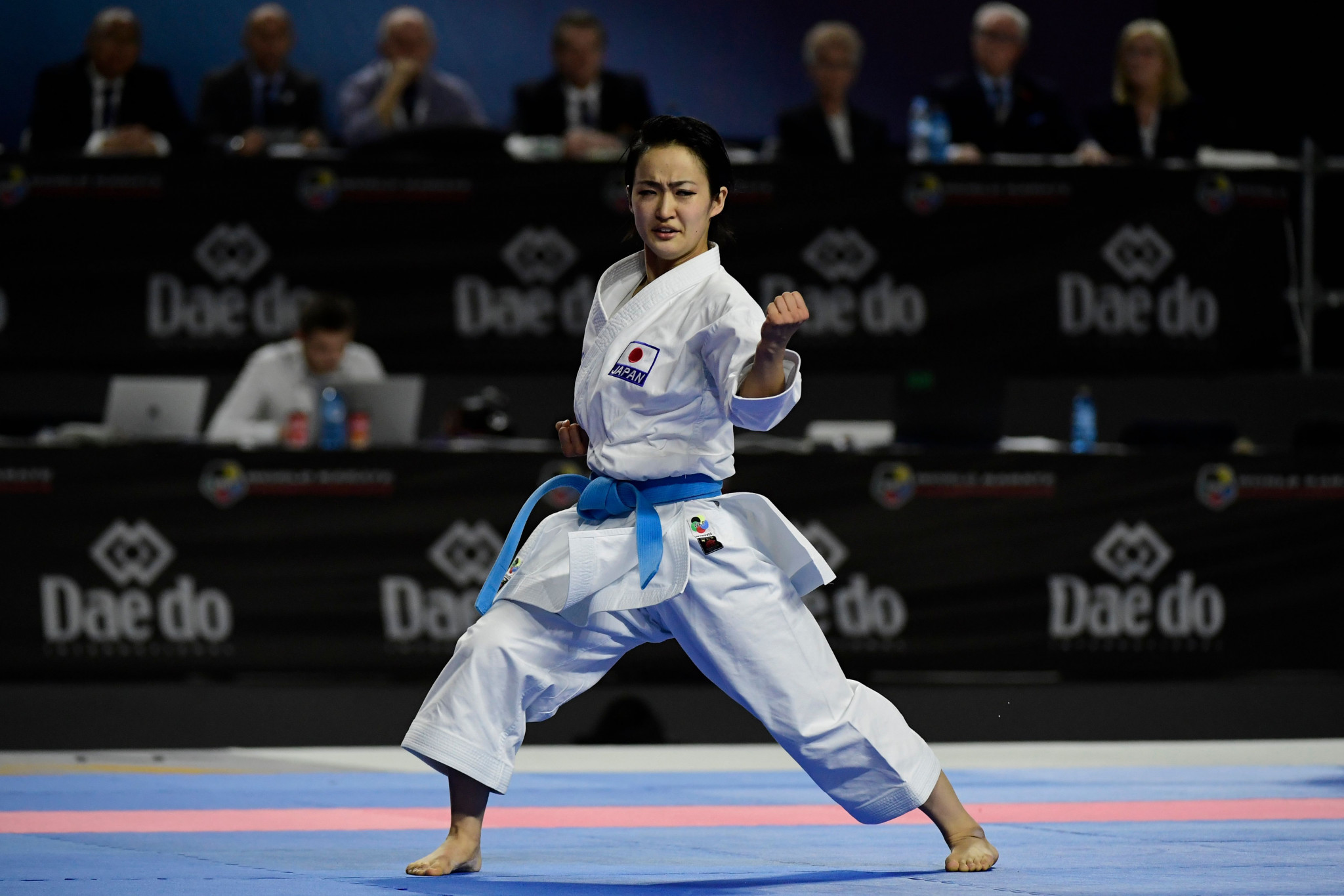 Japan's Kiyou Shimizu won the female kata at the WKF Karate1-Premier League in Rabat ©Getty Images