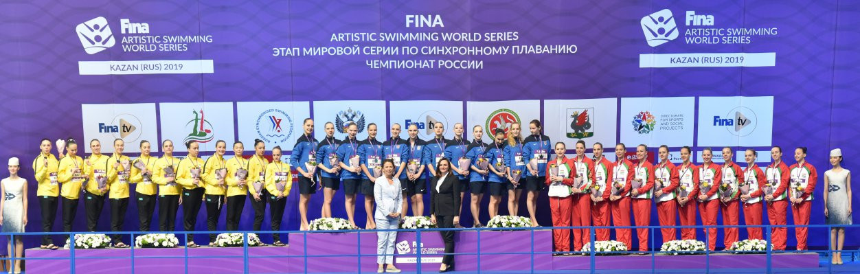 Russia won the team highlights event, with Kazakhstan second and Hungary third ©FINA