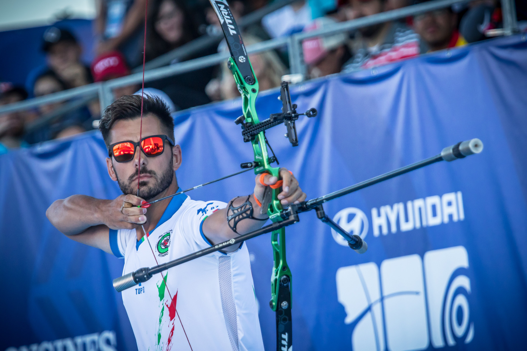 Italian Mauro Nespoli is one of three archers returning to defend their Medellin World Cup titles at this year's event ©Getty Images