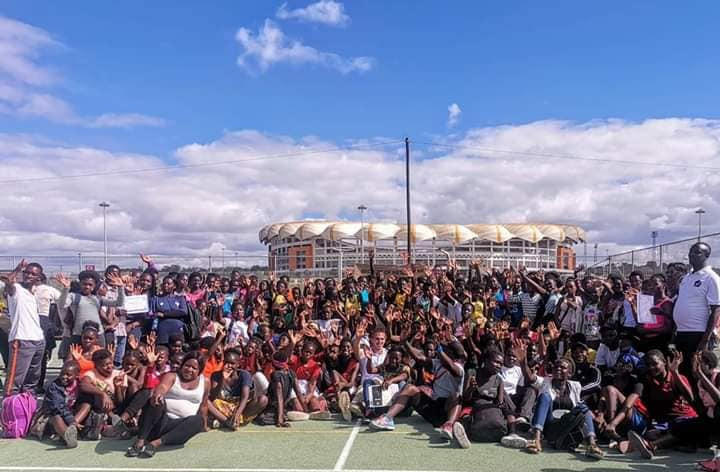 Women and girls from all over Zambia participated at the event in Lusaka organised by NET2019, the legacy programme launched following England's successful bid for this year's World Cup in Liverpool ©Facebook