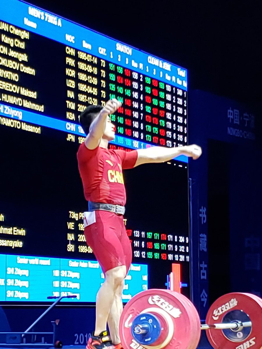 Shi breaks two world records as hosts China dominate day three of Asian Weightlifting Championships