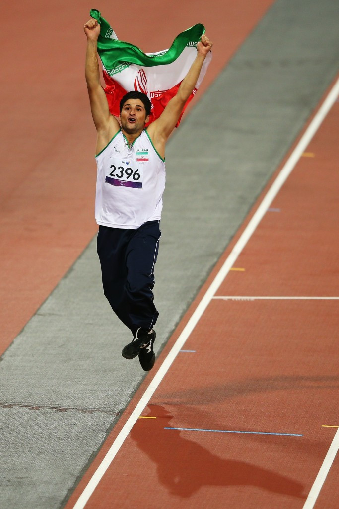 Mohammad Khalvandi was one of Iran's gold medallists at London 2012, in the F57/58 javelin