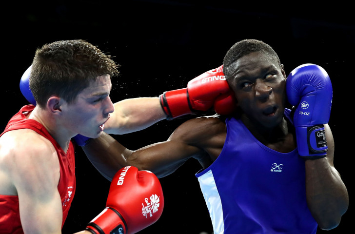 Out of Ghana's team of 70 that competed at Gold Coast 2018, boxer Jessie Lartey, right, was the only Commonwealth Games medallist, winning a bronze in the 64kg category ©Getty Images