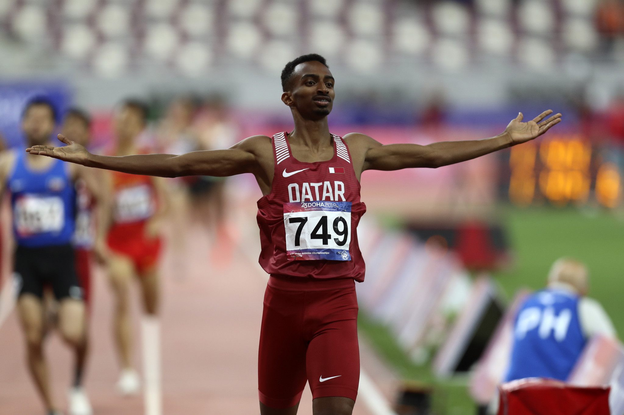 Qatar's Abubaker Haydar Abdalla came out on top in the men's 800m ©Getty Images