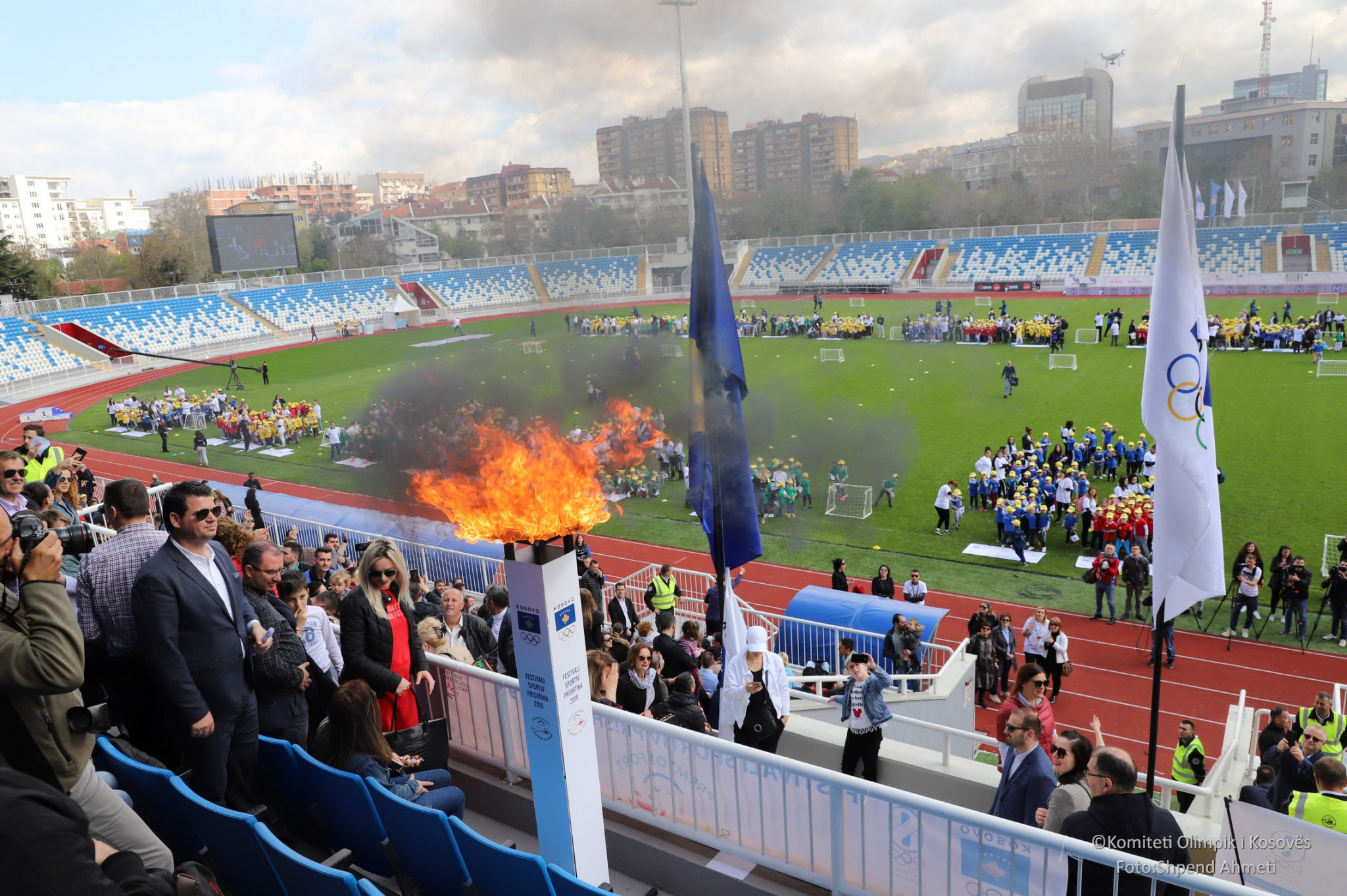 Two thousand pre-school children got an Olympic experience at Pristina's Fadil Vokrri Stadium in an event organised by the Kosovo National Olympic Committee ©Kosovo Olympic Committee