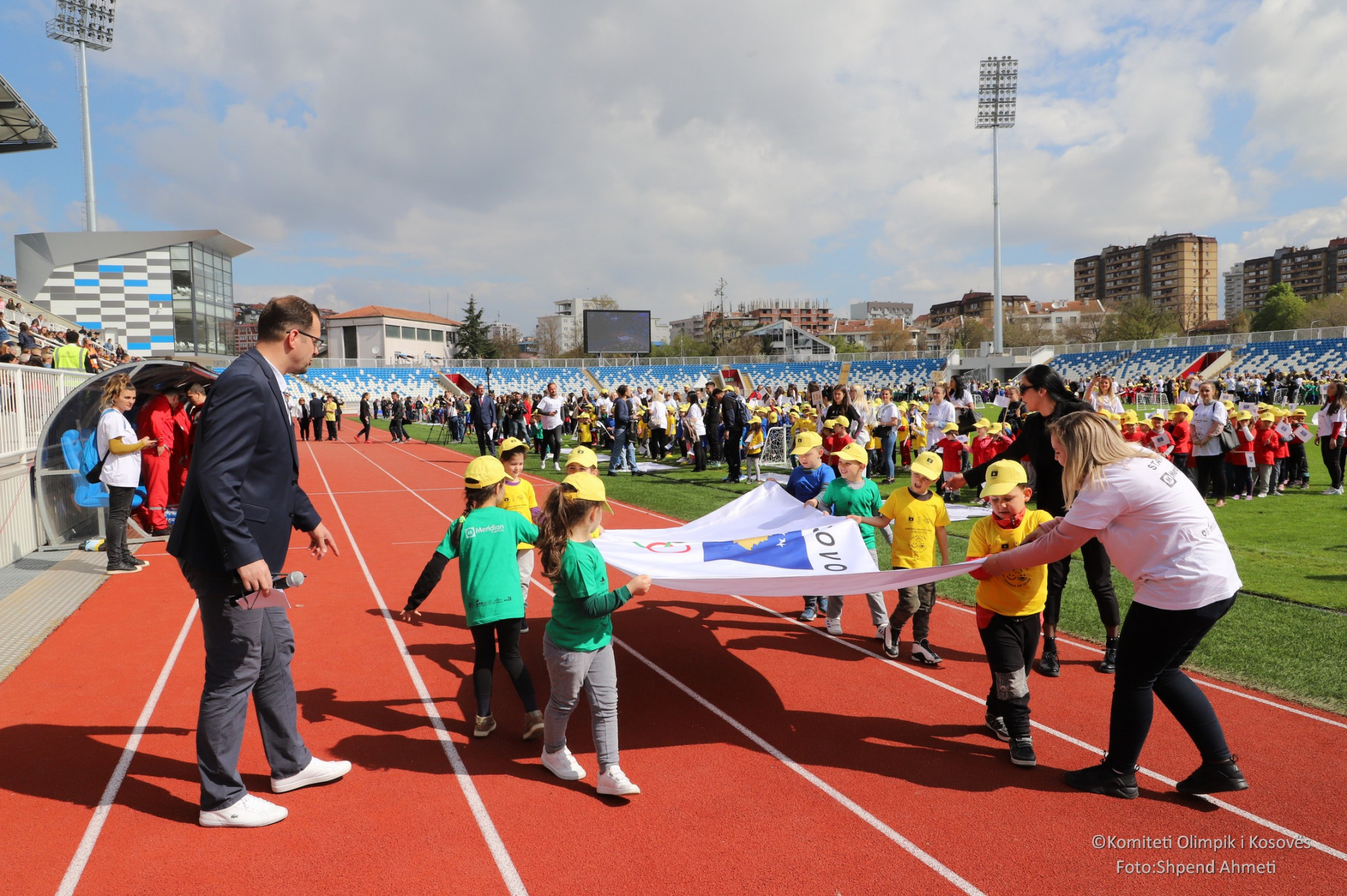 Pre-school children took part in a form of an Olympic opening ceremony as part of a festival in Pristina organised by the Kosovo Olympic Committee ©Kosovo Olympic Committee