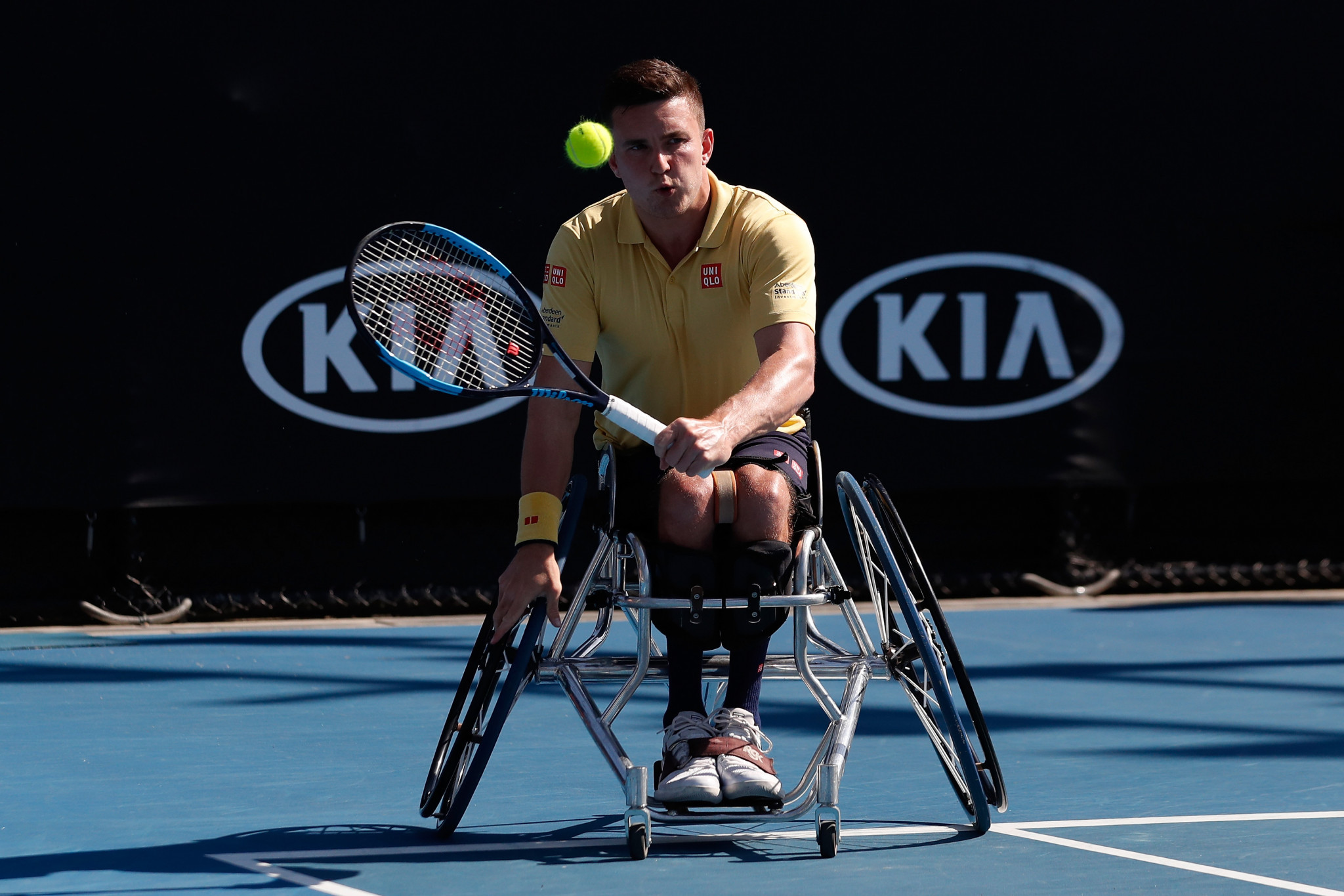 Gordon Reid beat British team-mate Alfie Hewett in a repeat of the Rio 2016 Paralympic Games singles final ©Getty Images
