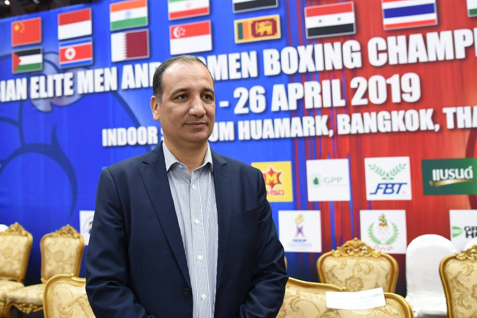 AIBA Interim President Mohamed Moustahsane has written a letter to the EUBC ©ASBC/Facebook