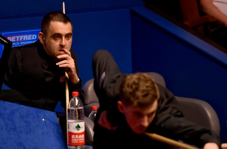Five-times world champion Ronnie O'Sullivan contemplates a shock first-round exit at the World Championships ©Getty Images