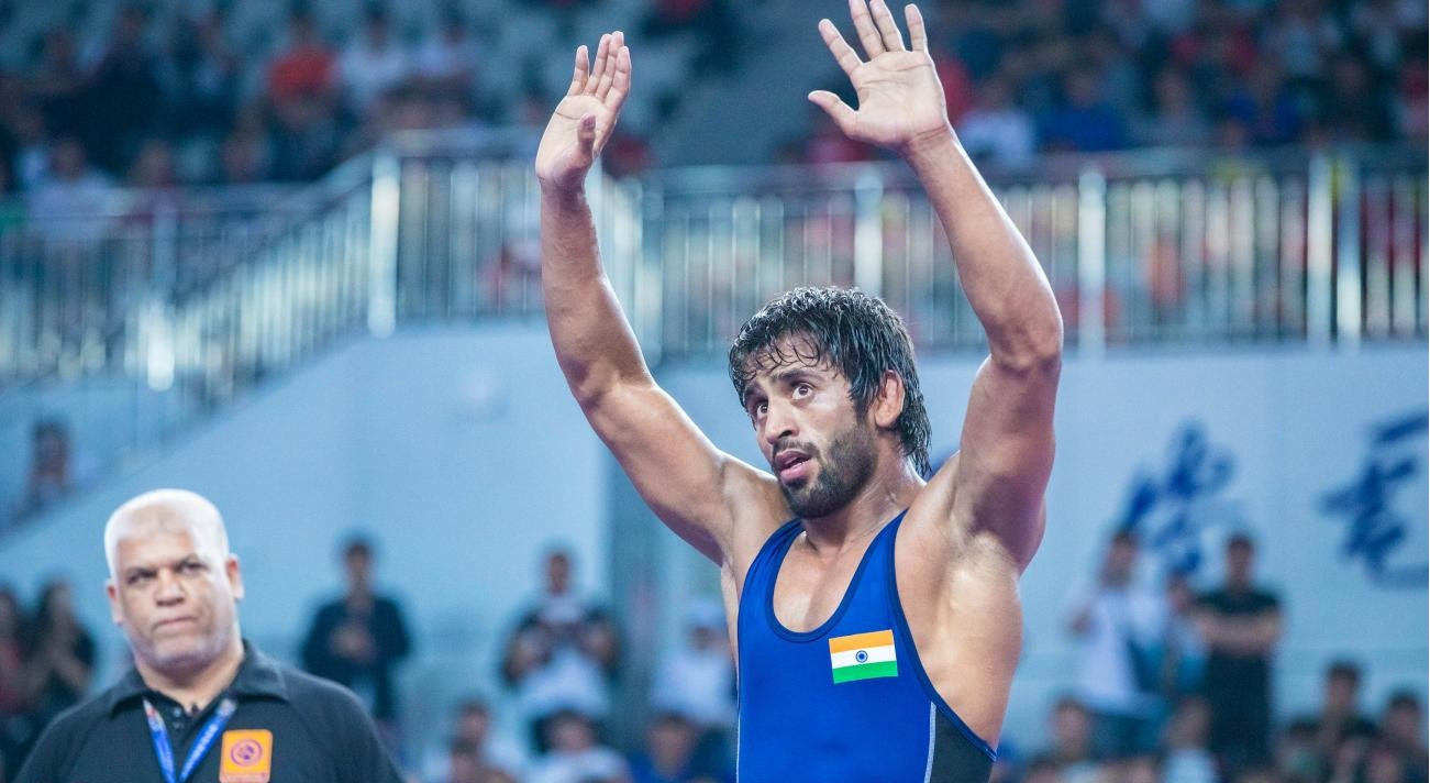 India's Bajrang Bajrang claimed the men's 65kg freestyle crown ©UWW