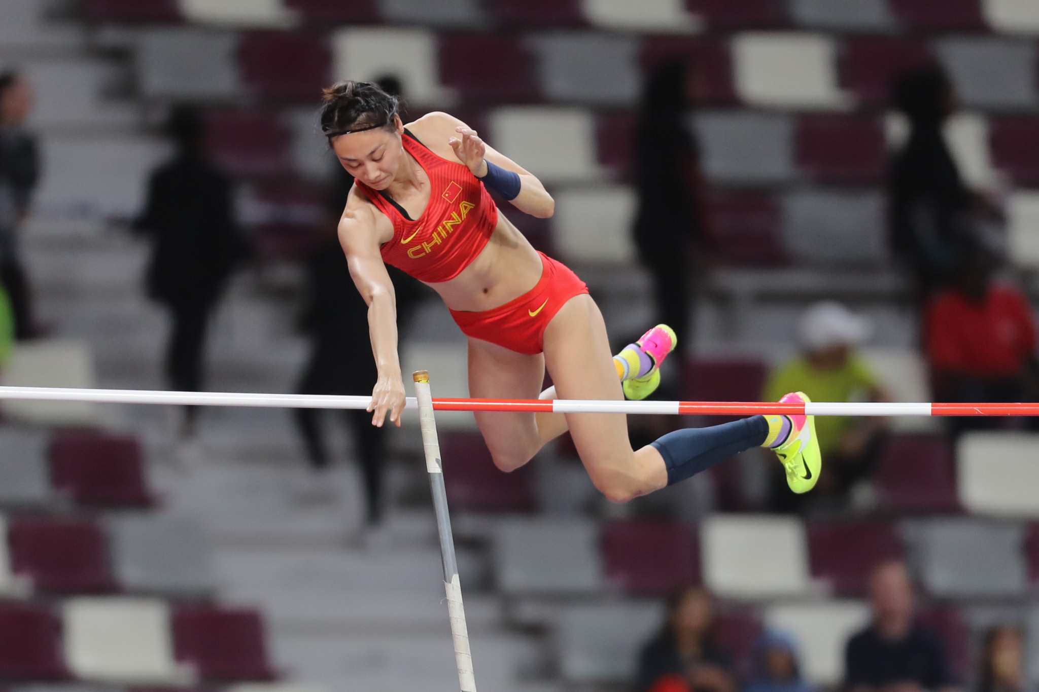 China's Li Ling came out on top in the women's pole vault ©Getty Images