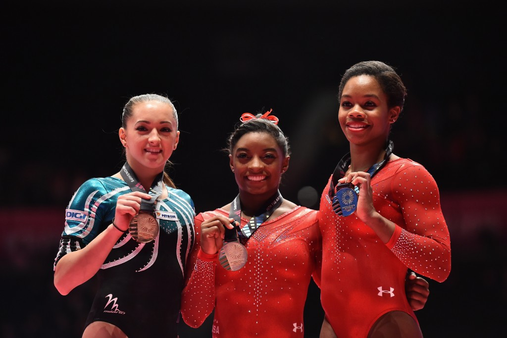 Biles makes history with third consecutive all-around title at Artistic Gymnastics World Championships