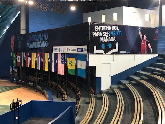 The Coliseo Deportivo is playing host to the Pan American Weightlifting Championships ©USA Weightlifting/Twitter