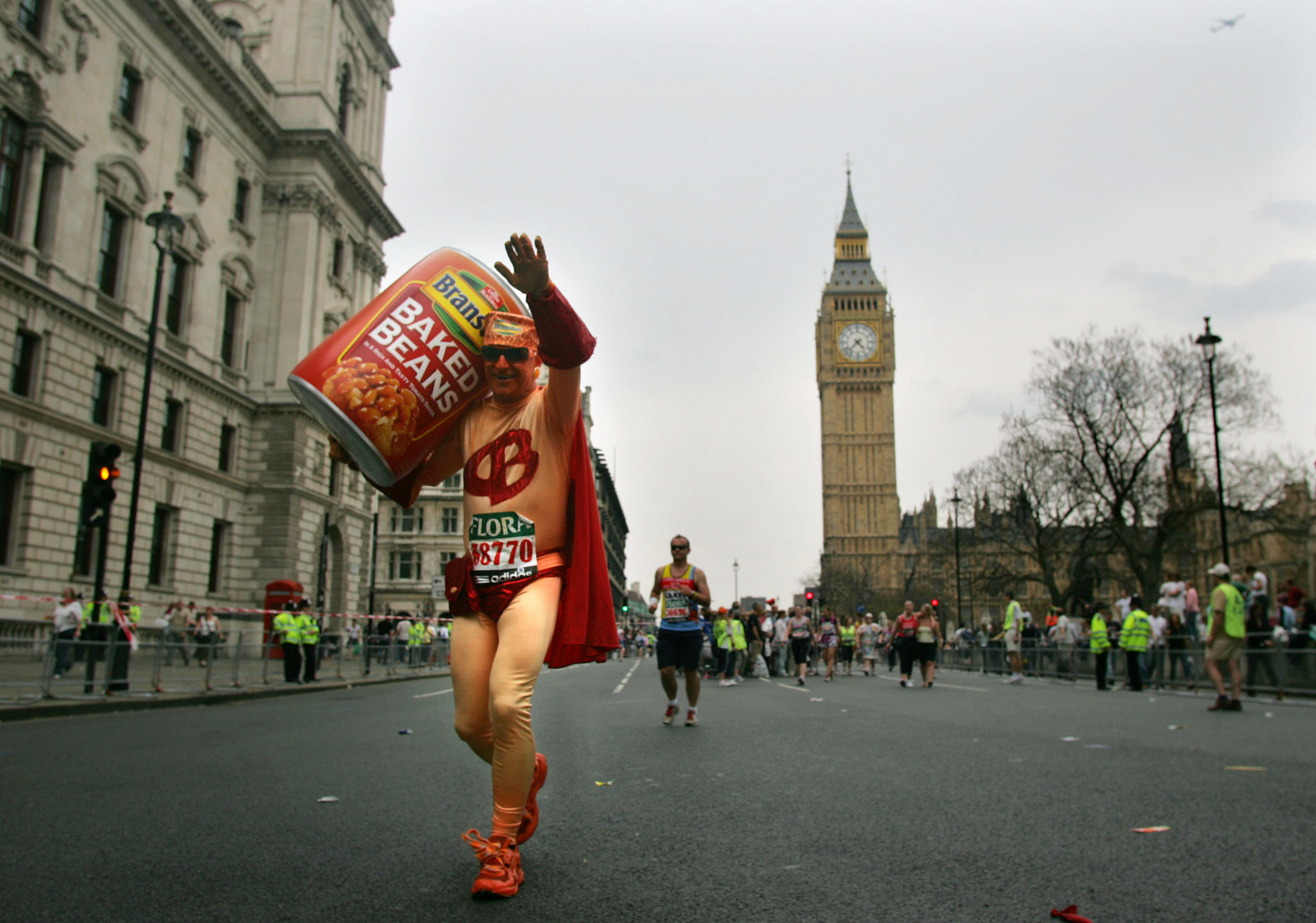It is estimated that 75 per cent of the 40,000 runners who take part in the London Marathon raise money for charity ©Getty Images