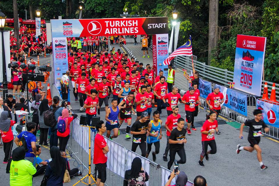 The Turkish Airlines KL Tower International Towerthon Challenge involves runners racing 2,058 steps up the seventh-tallest freestanding tower in the world ©KL Tower International Towerthon Challenge