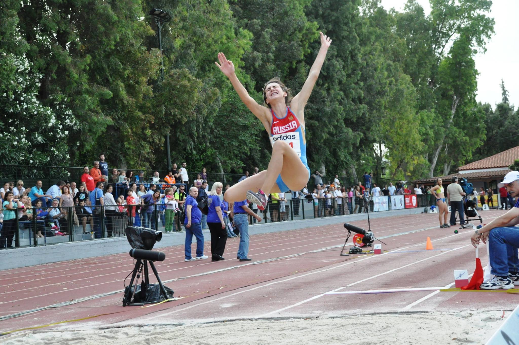 Long jumper Yelena Mashinistova has been suspended by RUSADA for a year for an anti-doping violation ©Facebook