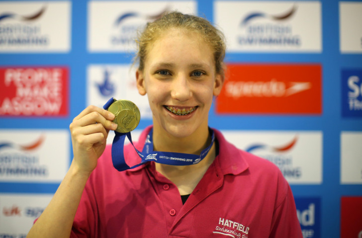 Britain's Louise Fiddes,18, the World Para Swimming World Series champion, will start her defence of the title in Glasgow tomorrow ©Getty Images
