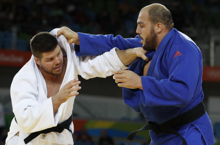 Tunisia's Faicel Jaballah, right, will defend his over-100kg title at this year's Championships in Cape Town ©Getty Images