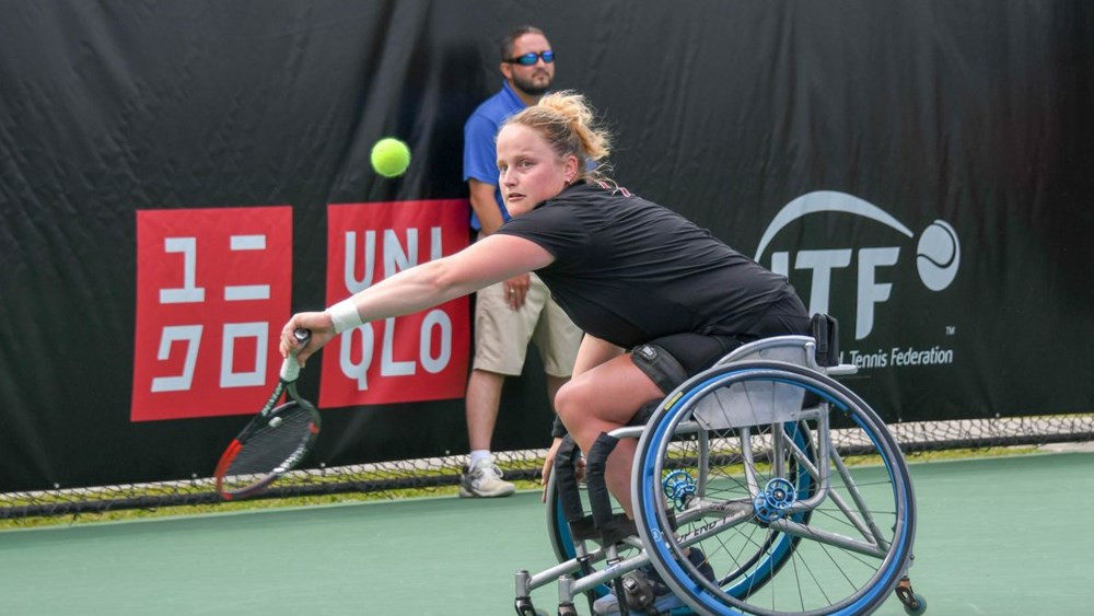 Aniek van Koot of the Netherlands came from one set down to reach the quarter-final of the ITF Japan Open ©ITF