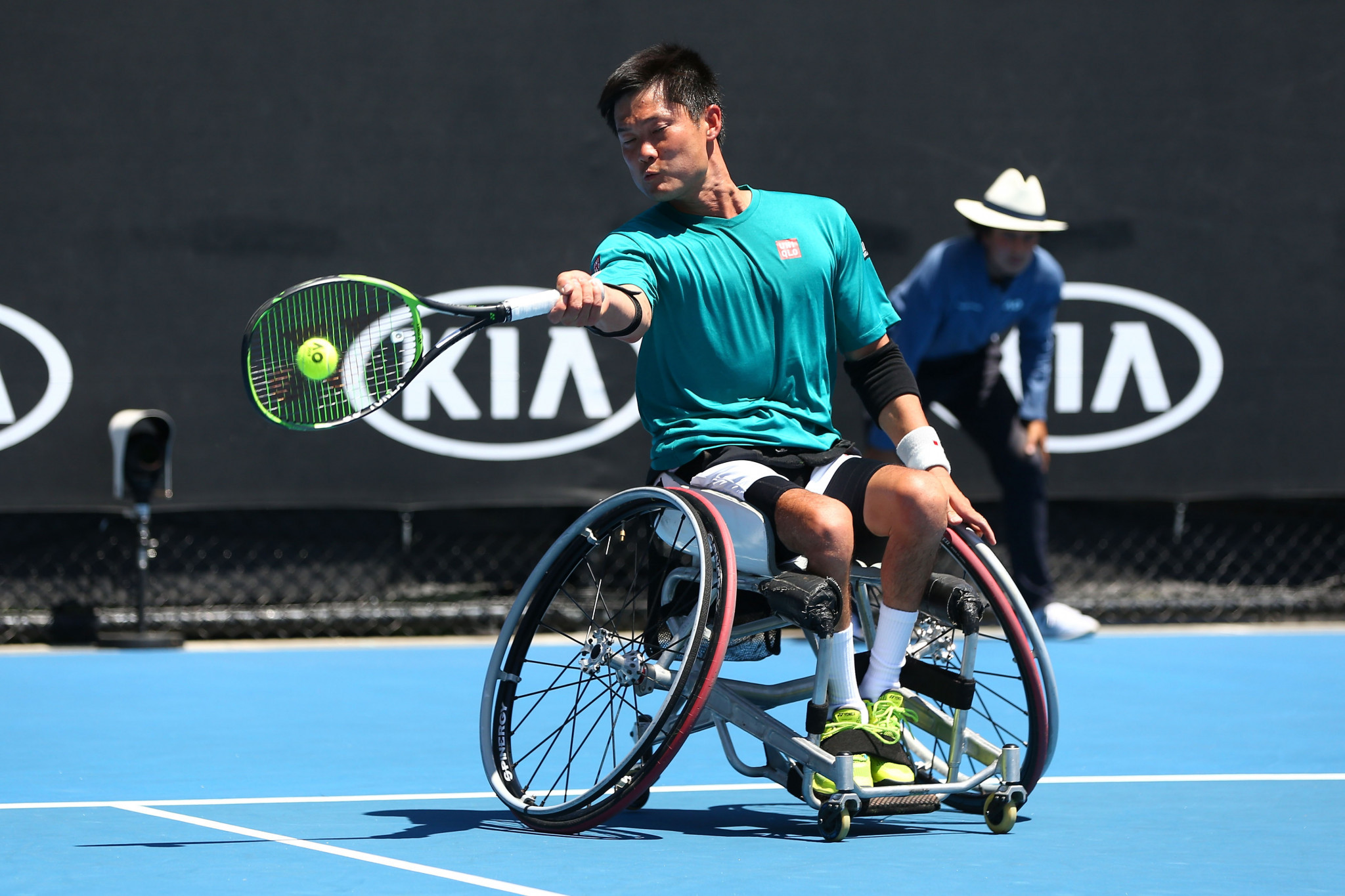 Home favourite Shingo Kunieda of Japan will face Paralympic champion Gordon Reid of Britain in the quarter-finals of the ITF Japan Open ©ITF