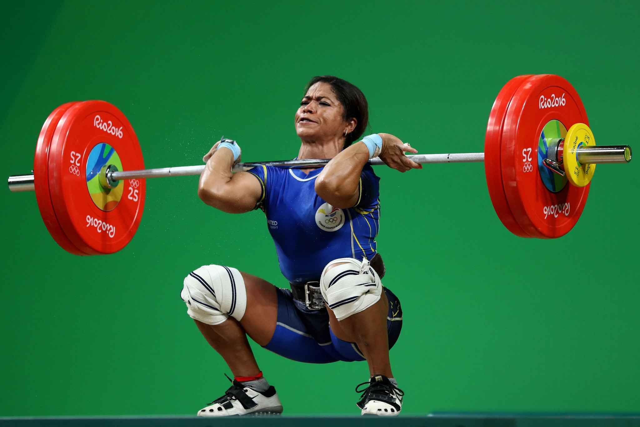 Ecuador's Alexandra Escobar had to settle for second in the women's 55kg category ©Getty Images