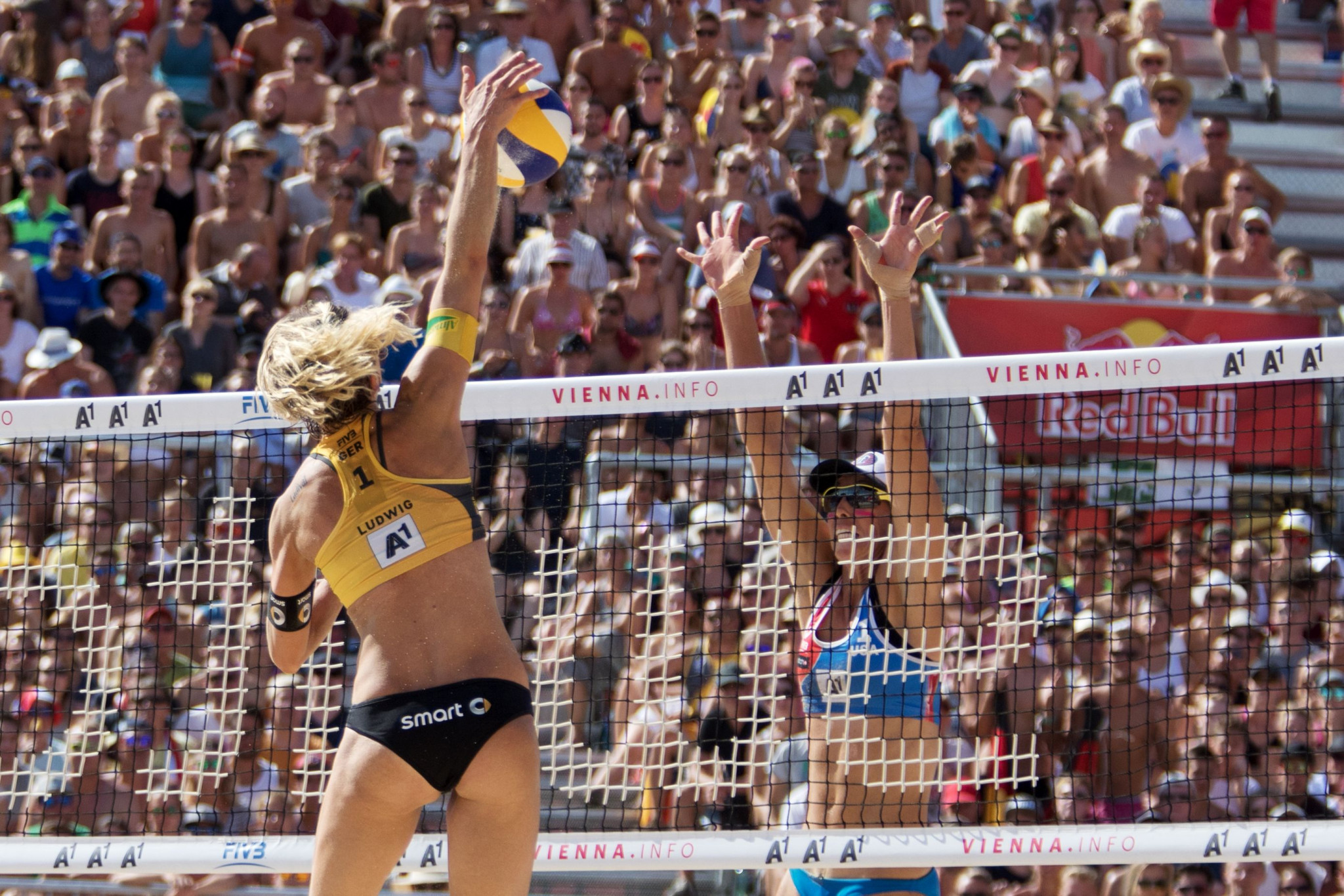 Germany's Laura Ludwig lost her first match back from a two-year break at the FIVB Beach World Tour event in Xiamen ©Getty Images
