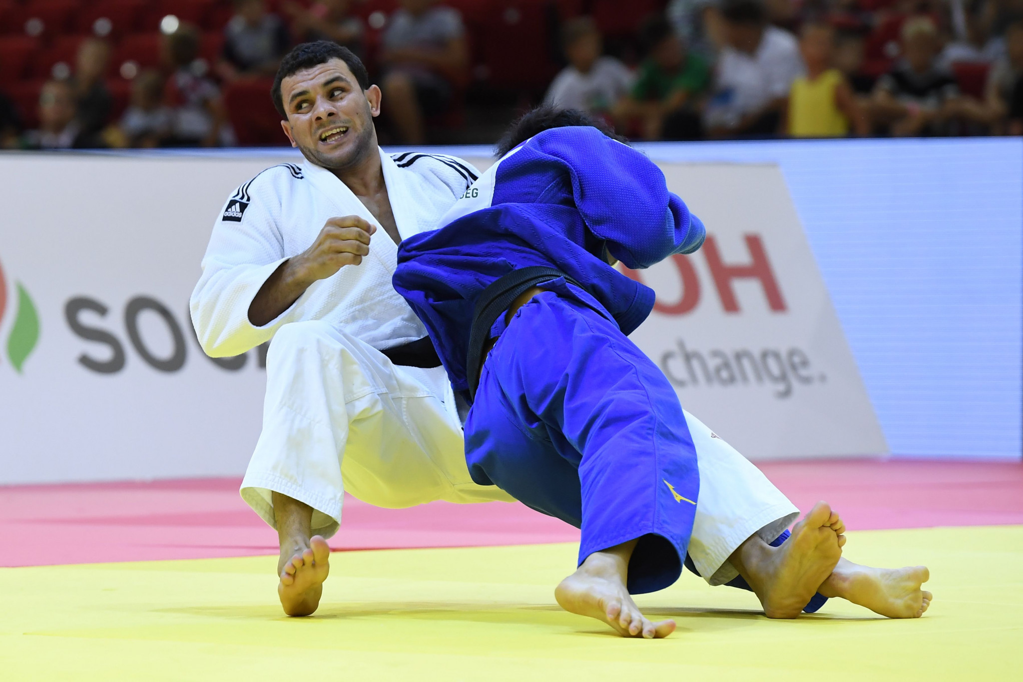 Egypt's Mohamed Abdelmawgoud came out on top in the men's under-66kg category ©Getty Images