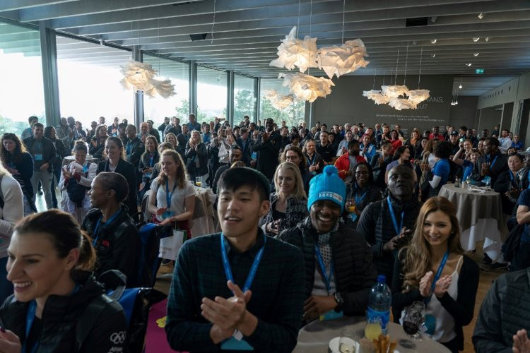 More than 350 athletes from 20 countries attended this month's International Athletes' Forum in Lausanne ©FIAS