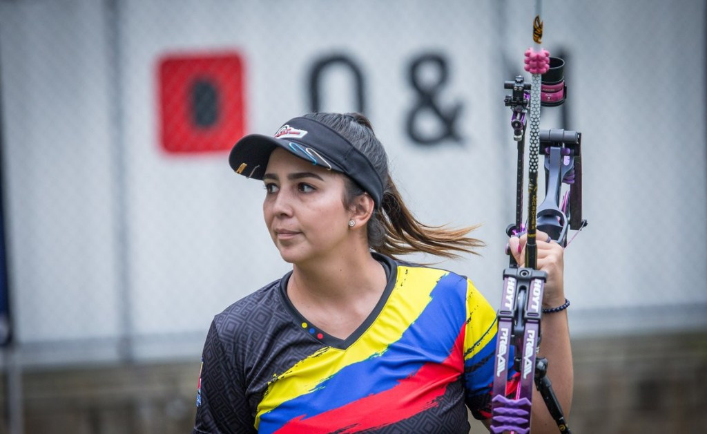 Colombia's Sara López reached the 12th gold medal match of her career at the Archery World Cup in Medellin ©World Archery