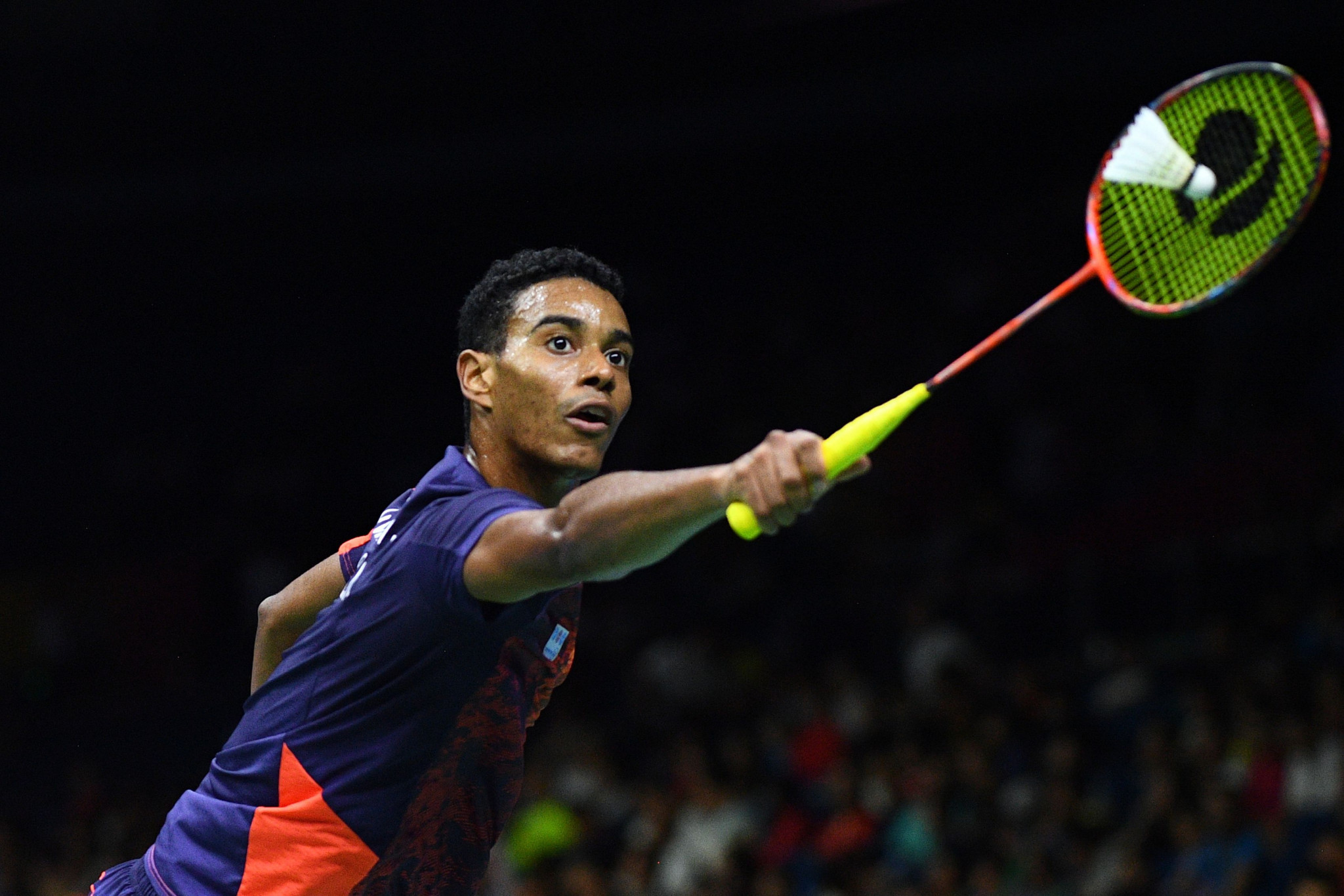 Brazil's Ygor Coelho de Oliveira won his opening game of the Pan American Badminton Championships ©Getty Images