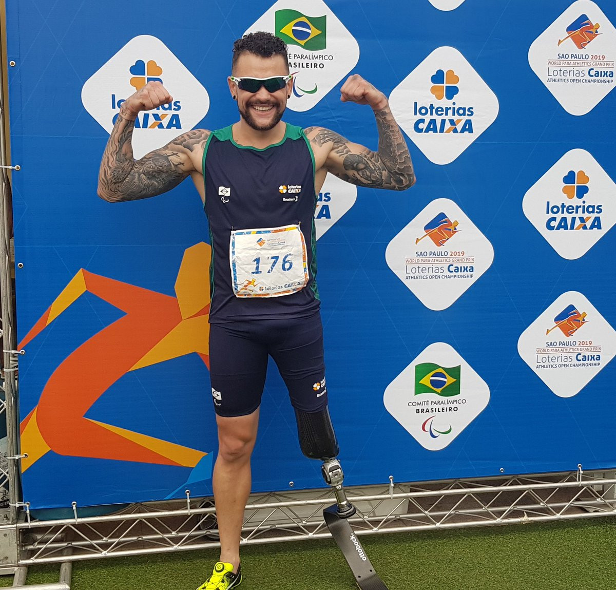 Brazil's Vinicius Rodrigues broke a world record on the opening day of the World Para Athletics Grand Prix in São Paulo ©Para Athletics