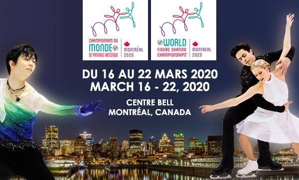 All-event tickets for the 2020 ISU World Figure Skating Championships in Montreal will go on sale on May 31 ©Skate Canada