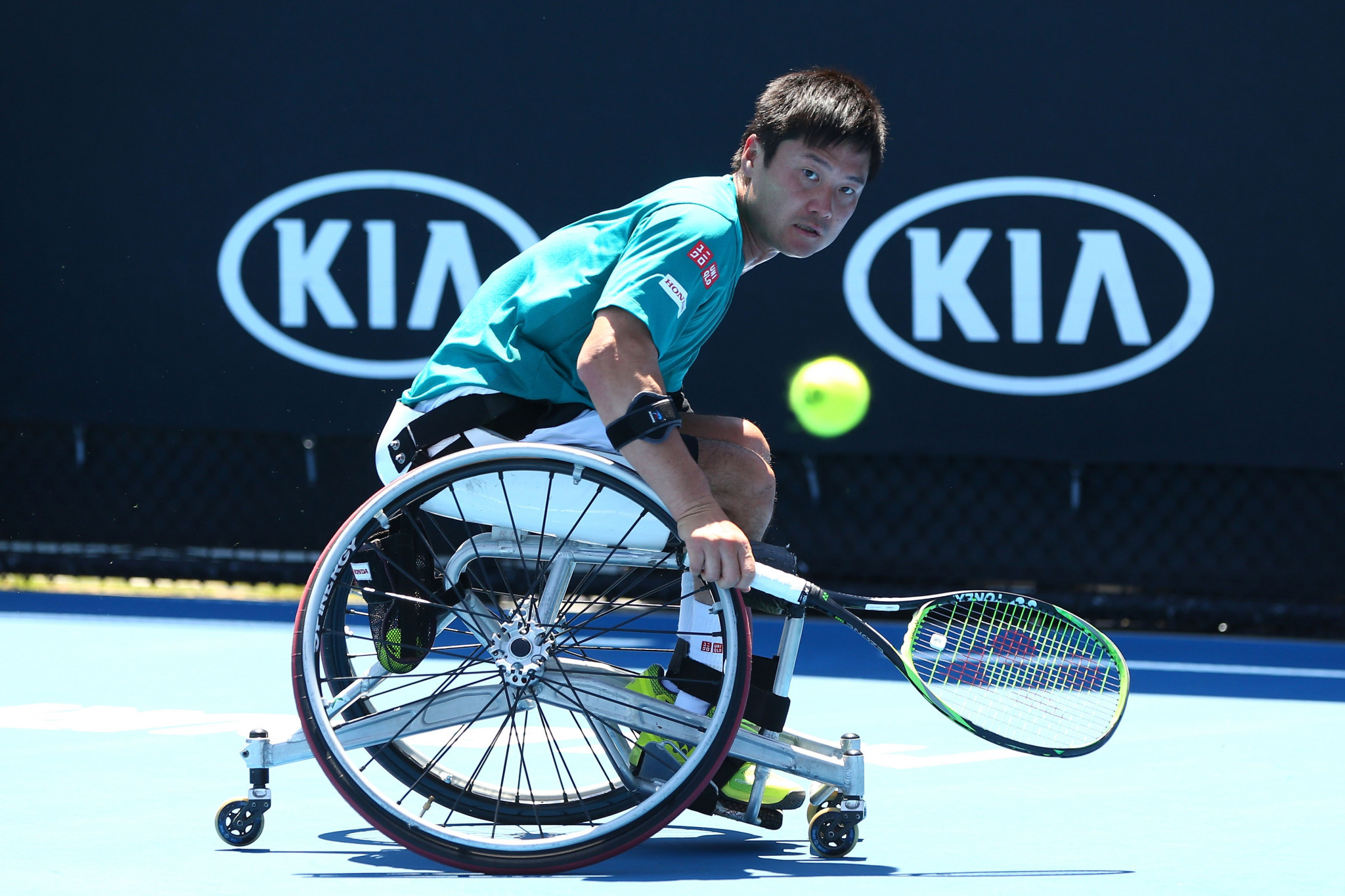 Double Paralympic champion Shingo Kunieda remains on course for a ninth Japan Open title ©Getty Images