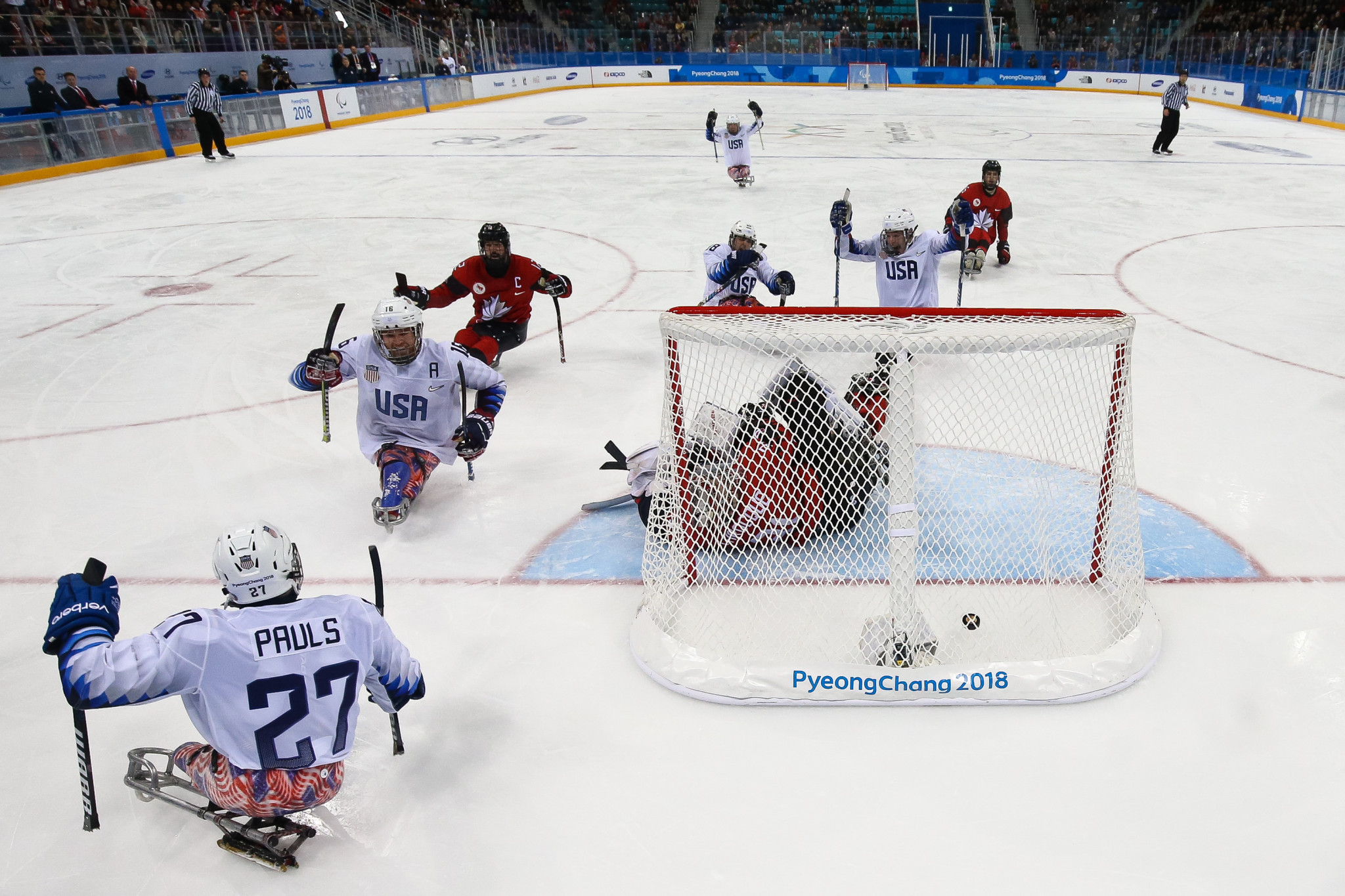 United States beat Canada in the final of the 2018 Winter Paralympic Games ©Getty Images