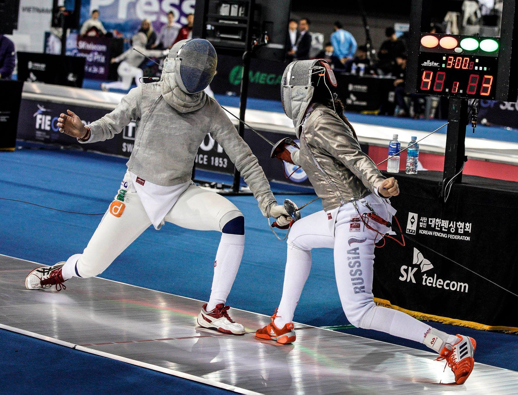 The FIE Sabre Grand Prix in Seoul is taking place at SK Handball Gym ©FIE