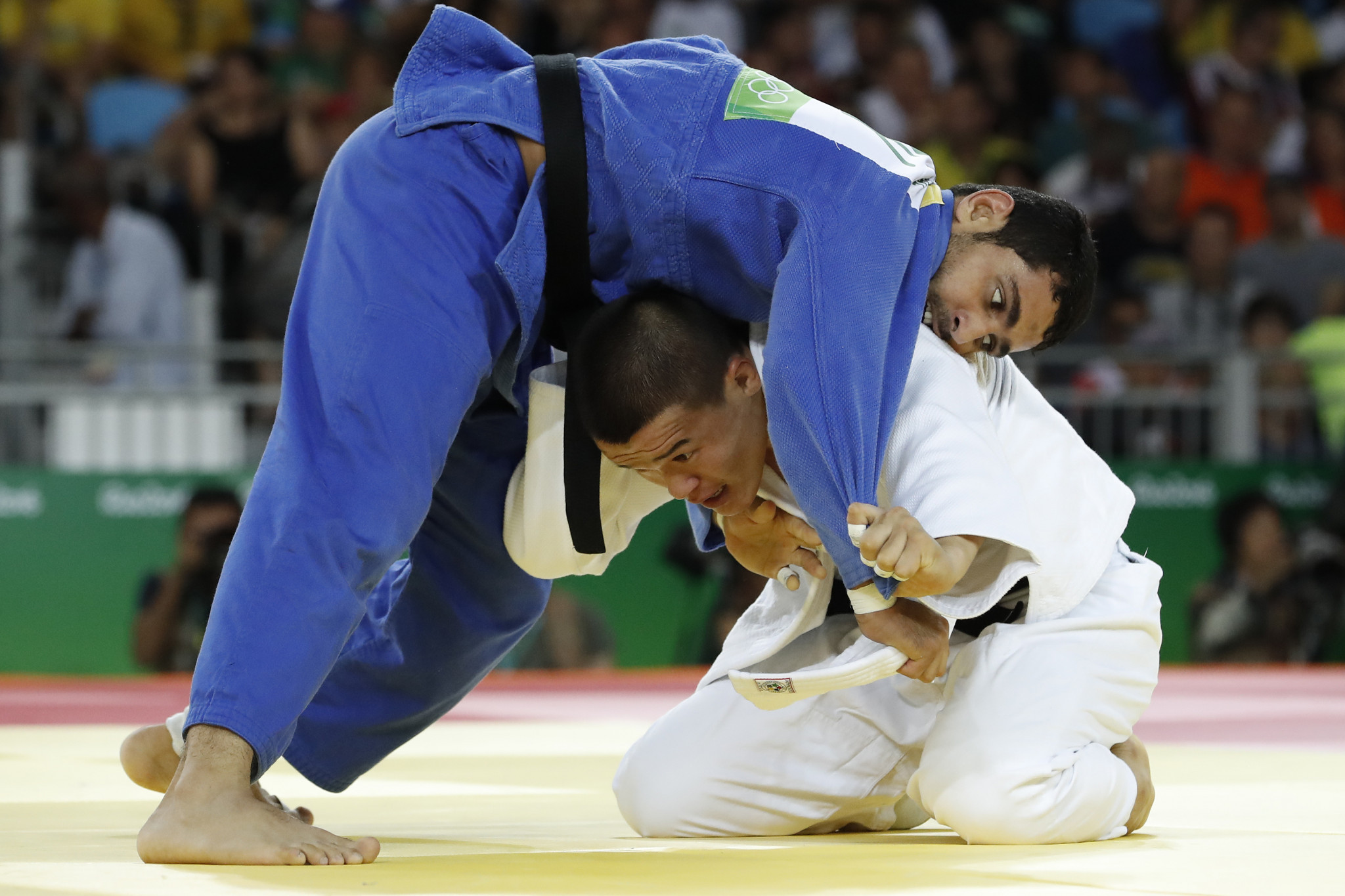 Egypt's Mohamed Abdelaal tasted victory in the men's under-81kg category ©Getty Images