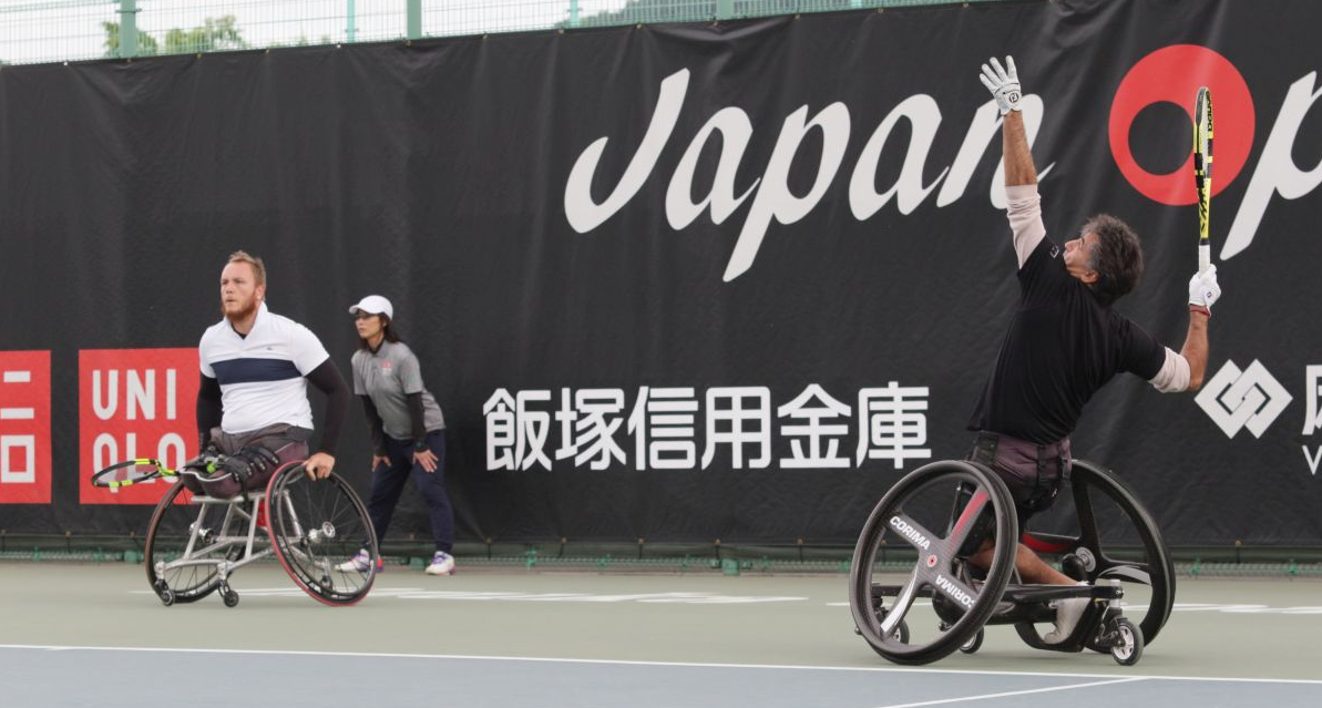 Stephane Houdet and Nicolas Peifer triumphed in the men's doubles final ©Japan Open 2019