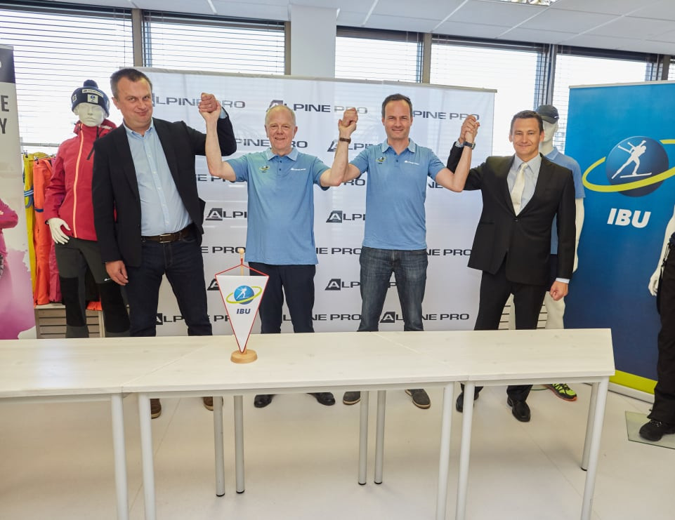 The deal between ALPINE PRO and the IBU will run through to 2022 ©IBU