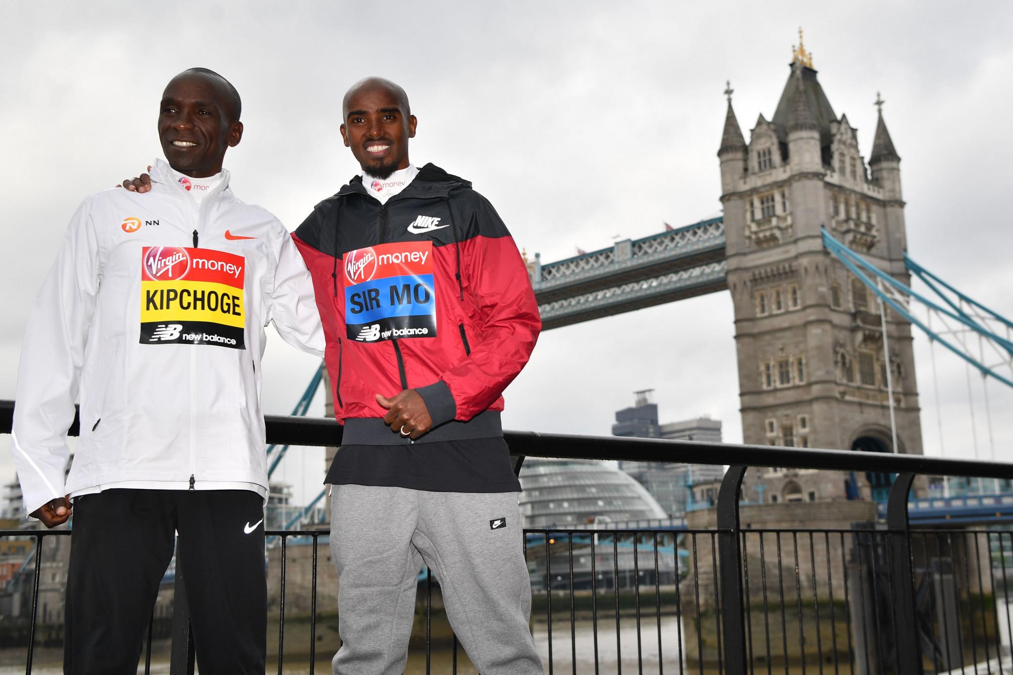 Kipchoge and Cheruiyot aim to defend London Marathon titles