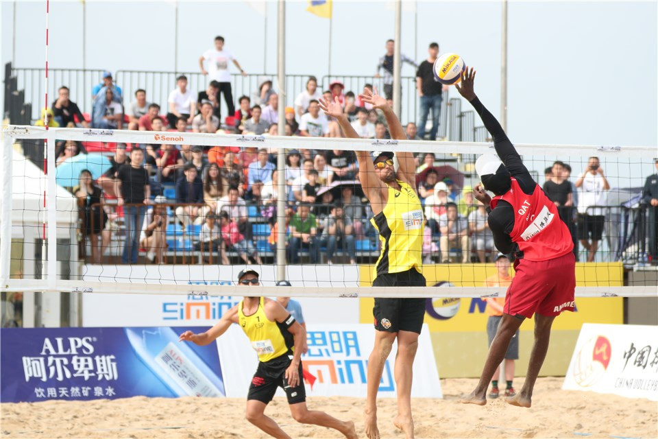 Spain's Pablo Herrera and Adrian Gavira reached the final of the FIVB Beach World Tour in Xiamen ©FIVB