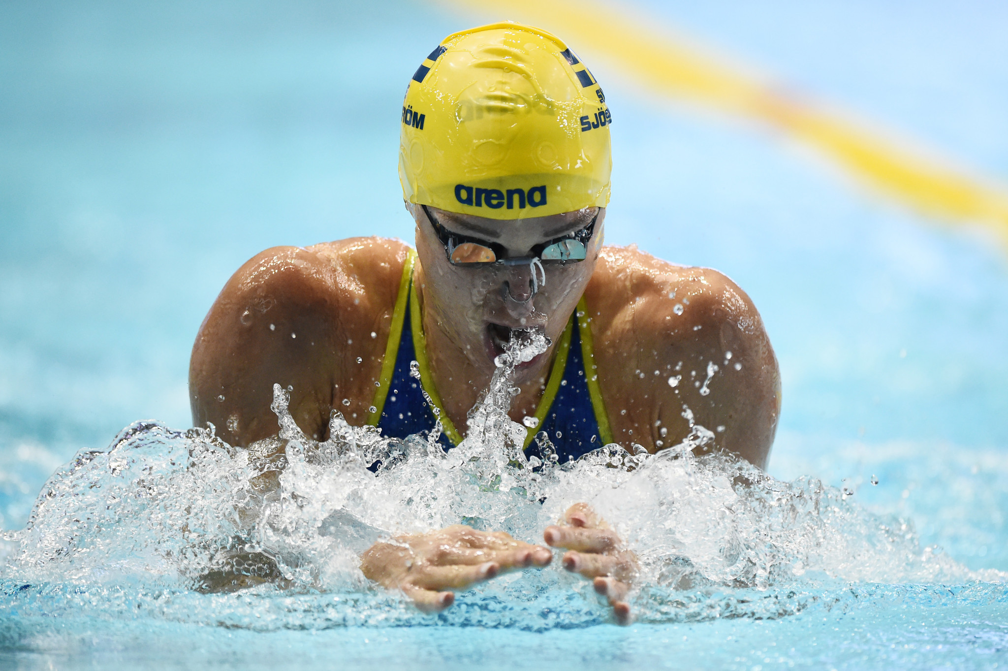 Sweden's Sarah Sjöström won two golds on the opening day of the FINA Champions Swim Series ©Getty Images