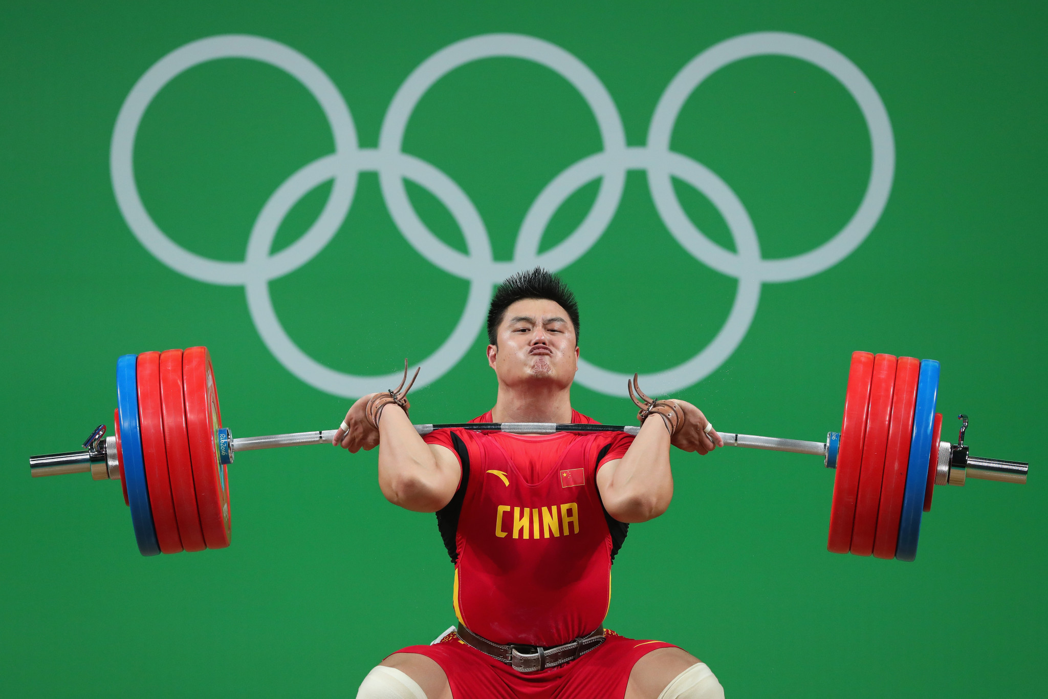 Yang Zhe secured two of the three available gold medals in the men's 109kg division ©Getty Images