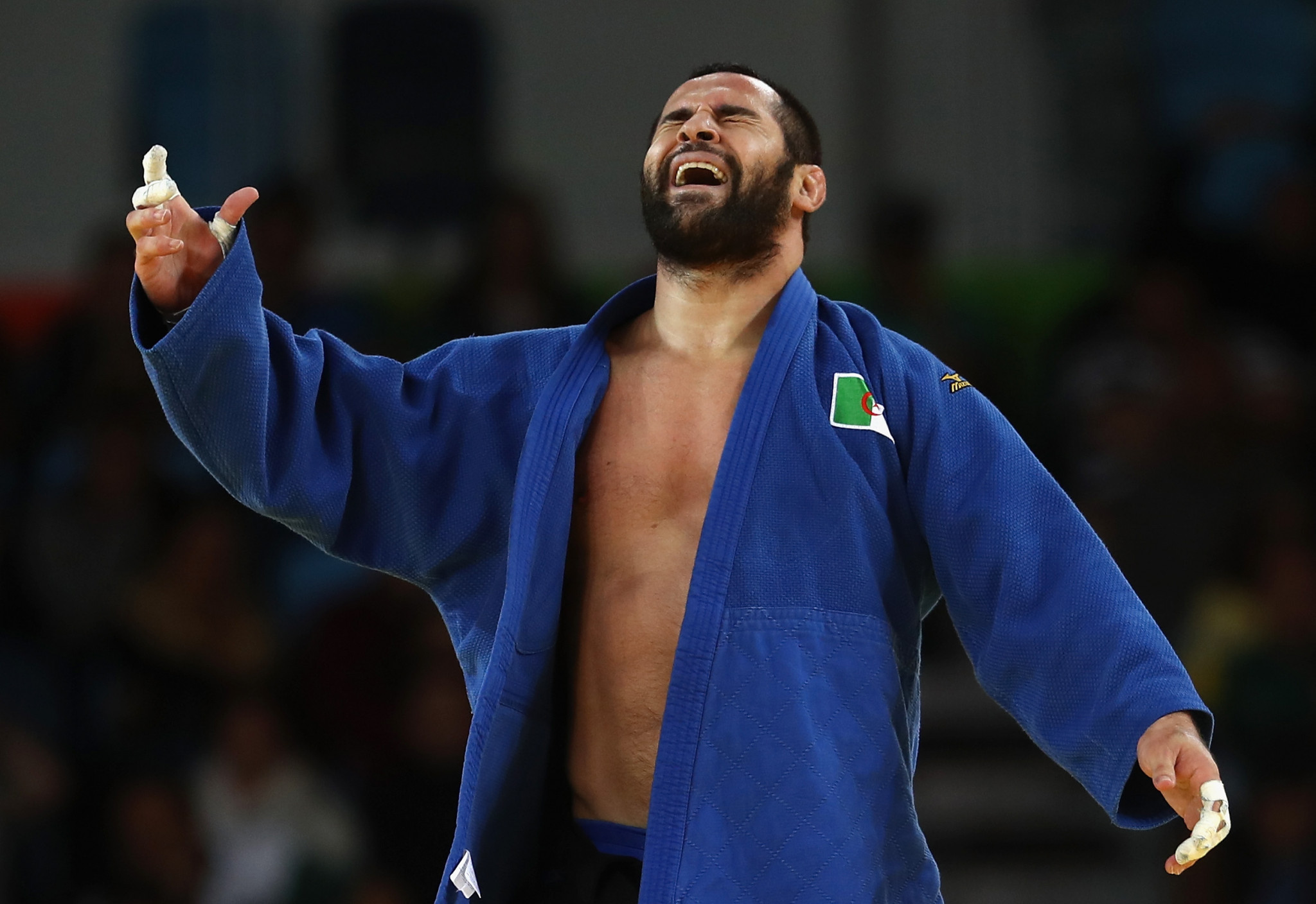 Lyes Bouyacoub triumphed in the men's under-100kg division ©Getty Images