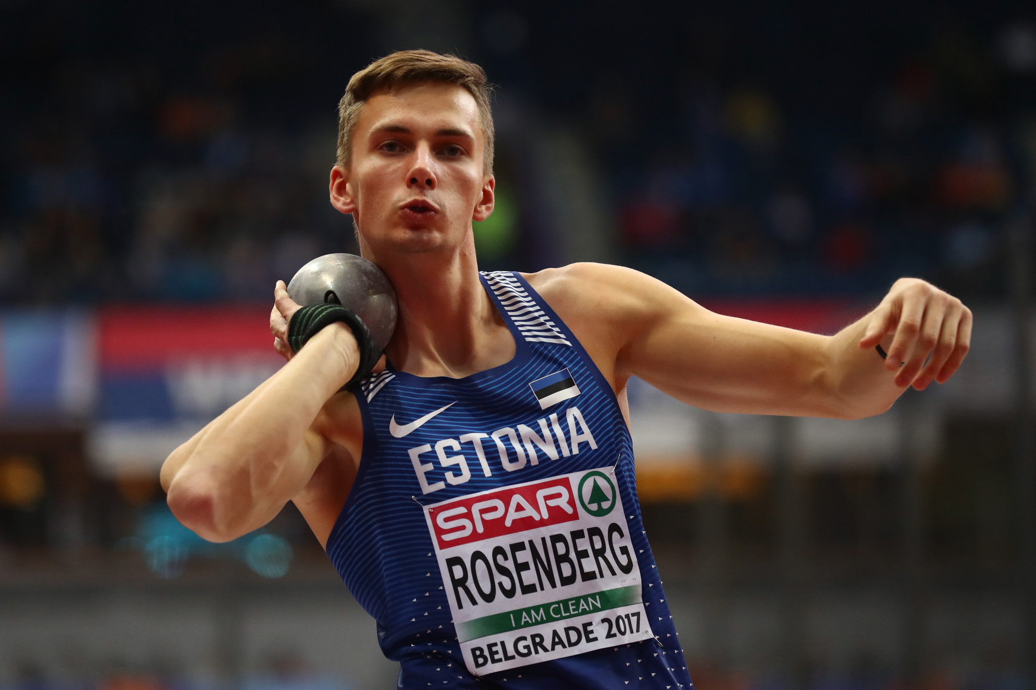 Estonia's Kristjan Rosenberg is the surprise leader after the first day of decathlon action ©Getty Images