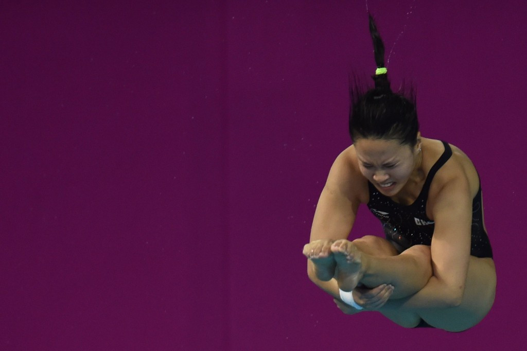 China's Han Wang was the top performer in the women's 3 metres springboard event ©Getty Images