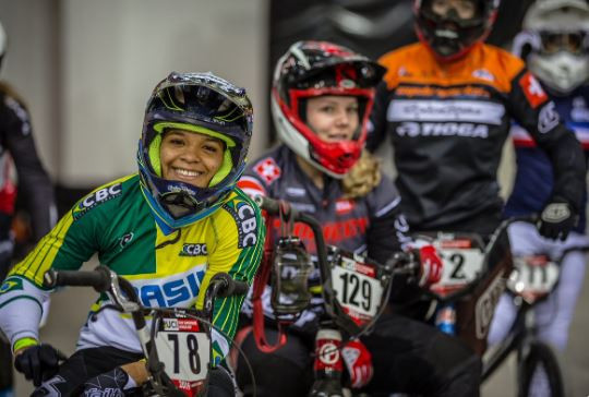 The world's best BMX Supercross riders have converged on Manchester for the opening UCI World Cup of the season ©UCI Twitter